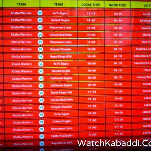 WKL 2014 schedule.